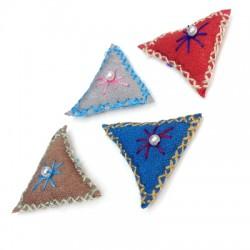 Talismano di Stoffa Triangolare 30mm
