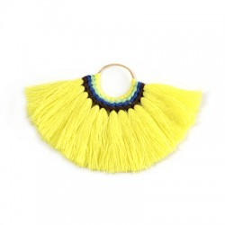 Pendant With Cotton Tassels ~77x59mm
