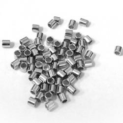Ορειχάλκινη (Μπρούτζινη) Χάντρα Σωληνάκι 2x2mm (Ø1.4mm)