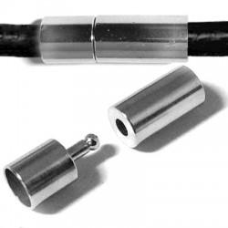 Brass Clasp Tube 6x19mm Ø 5mm