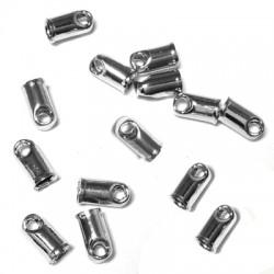 Μετ. Μπρούτζινος Ακροδέκτης Τελείωμα Κούμπωμα 2x4mm (Ø1.1mm)