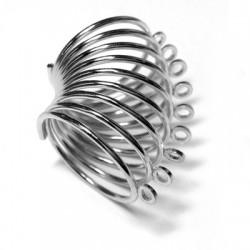 Anello in Acciaio a Spirale con Anellini 1.2mm