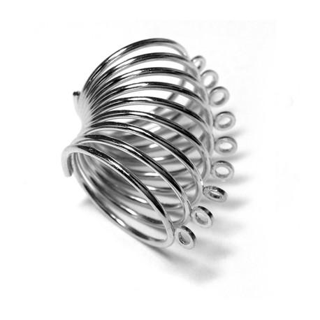 Steel Finger Ring Spiral