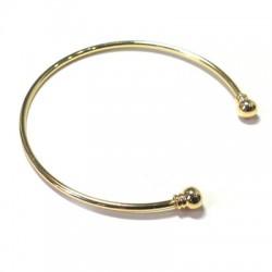 Bracelet en Métal/Laiton 62mm (grosseur 2,1mm) Flexible avec Embout Vissé