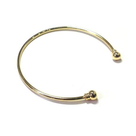 Brass Bracelet Base 63mm with Screw (wire 2.1mm)