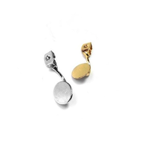 Brass Earring with Round Disc 8mm