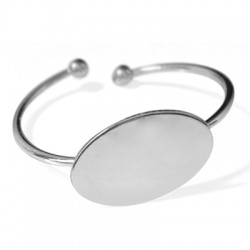 Brass Adjustable Bracelet ECO 50mm with Oval Base