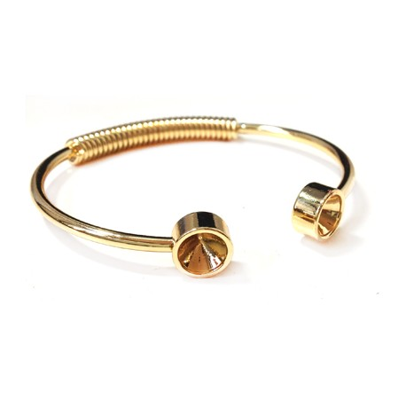Brass Adjustable Bracelet ECO 58mm with SS39 Settings