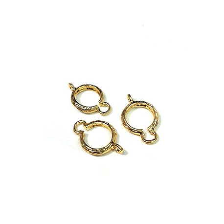 Brass Connector with Setting for 8mm Bead