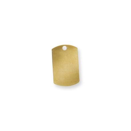 Brass Eco Rectangular Tag 15x25mm (Ø 2.4mm)