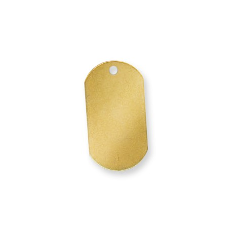 Brass Eco Rectangular Tag 20x37mm (Ø 2.9mm)