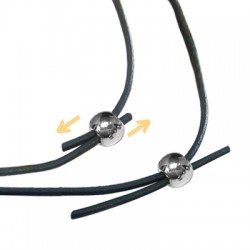Brass Bead 5mm with Rubber Tube (Ideal for Holding 2 Cords of 1mm)