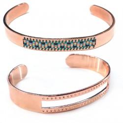 Brass Cuff 10x58mm (Ideal for Miyuki Beads)