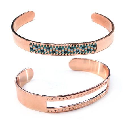 Bracelet en Métal/Laiton pour perles type Miyuki 10x58mm