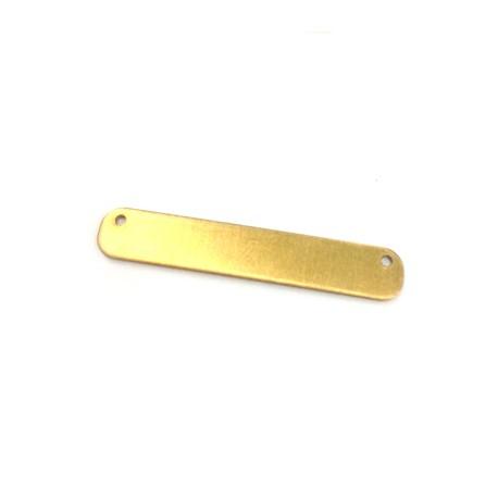 Plaque/Intercalaire pour collier en Métal/Laiton 35x6 (Ø 1.2mm)