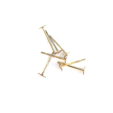 Brass Earring Pin 8mm (12mm long)