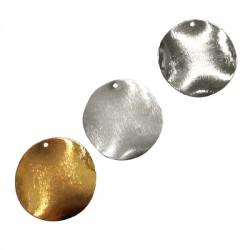 Brass Pendant Wavy Plain 30mm