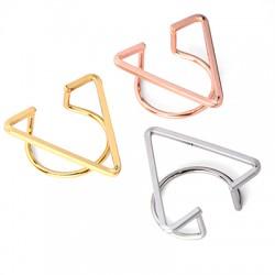 Brass Ring Geometrical 29x28mm