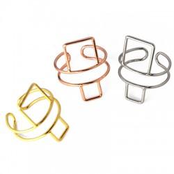 Μεταλλικό Ορειχάλκινο (Μπρούτζινο) Δαχτυλίδι 19x23mm