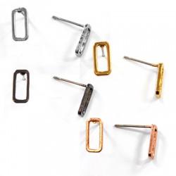 Brass Earring Rectangular 5x10mm