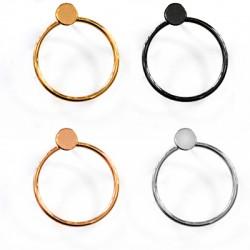 Brass Earring Circle 23x26mm
