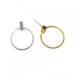 Brass Earring Round 25x30mm