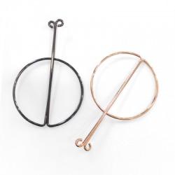 Brass Earring Geometrical 51x74mm