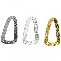 Brass Pendant Triangle 16x32mm
