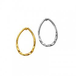 Brass Pendant Drop 17x27mm