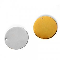 Brass Round Tag Plain 25mm