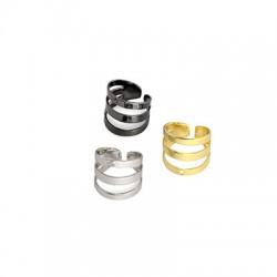 Brass Earring Clip Triple  9x10mm
