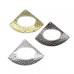 Brass Pendant Triangle 36mm