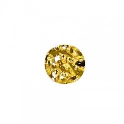Brass Irregular Pendant 28mm