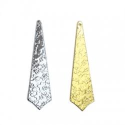 Brass Pendant w/ Patterns 13x50mm