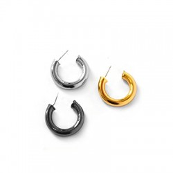 Brass Earring 30/6mm