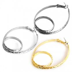 Brass Earring Knot 33x52mm