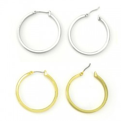 Brass Earring Round 32mm