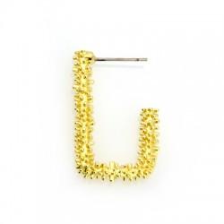 Brass Earring Geometrical 19x30mm