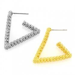 Brass Earring Triangle 27x26mm