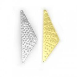 Brass Pendant Triangle 18x28mm
