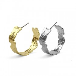 Brass Earring 27x9mm