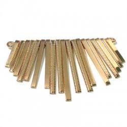 Μεταλλικό Ατσάλινο Εξάρτημα για κολιέ 72x45mm (19τμχ)