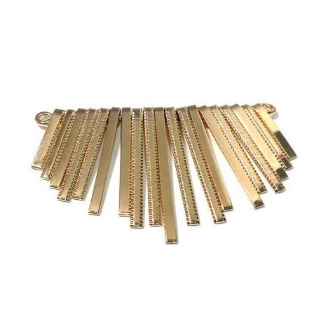 Accessorio Centrale per Collana in Acciaio 72x45mm (19 barrette)