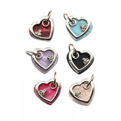 Metal Charm Heart 15x13mm