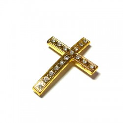 Rhinestone Cross 21x49mm