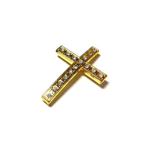Rhinestone Cross 21x49mm