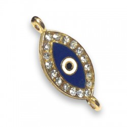 Metal Zamak  Enamel Eye 10x21mm 2 rings