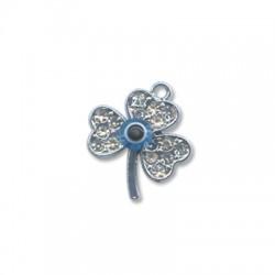 Μεταλλικό Μοτίφ Λουλούδι Μάτι με Στρας 19x22mm