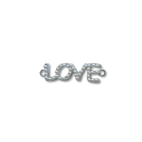 "Z/A Pearl ""LOVE"" 36x11mm"