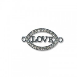 "Z/A Oval ""LOVE"" 36x20mm"